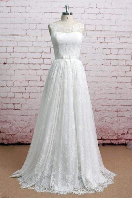 Graceful Illusion Lace A-line Wedding Dress